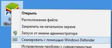 Windows Defender u kontekstnom izborniku