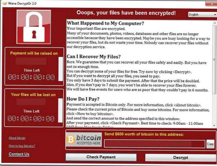 Zaštita Windows od virusa ransomwarea Wana Decrypt0r